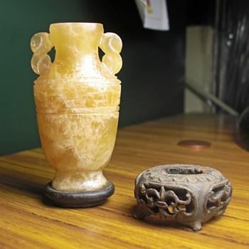 Yellow jade snuff bottle - Asian