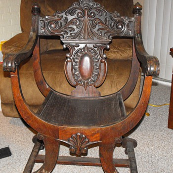 Round Bottom Carved Chair - Furniture