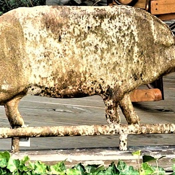 Antiqued Pig Weather Vane From My Favorite Restaurant Shop Bedford ,PA - Animals