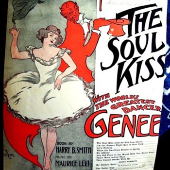"1908 Ziegfeld Production, ""THE SOUL KISS"", WITH LUCIFER! I 'M THE HUMAN NIGHT KEY OF NEW YORK - Music Memorabilia"