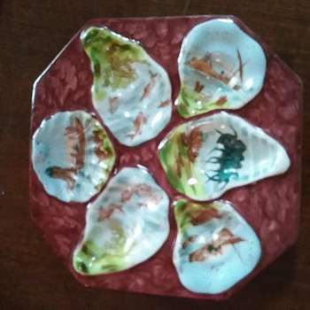 Antique Austrian Oyster Plate - China and Dinnerware
