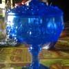 blue glass candy dish?