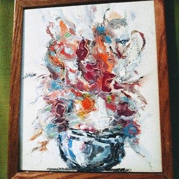 A FLORAL OIL PAINTING - Fine Art