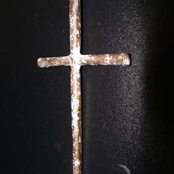Gilt Antique Jesuit Crucifix found on beach West side of Kobe Japan