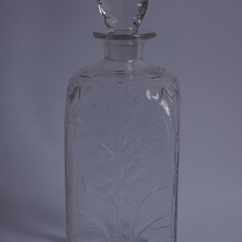 Whitefriars Square Spanish Cut Decanter - Art Glass