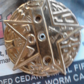 1938 R.O.A. 3 PIECE SPIN dials metal - Medals Pins and Badges