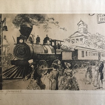 Old Train Print The General