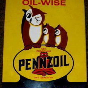 PENNZOIL oil Wise PORCELAIN OVERLAY