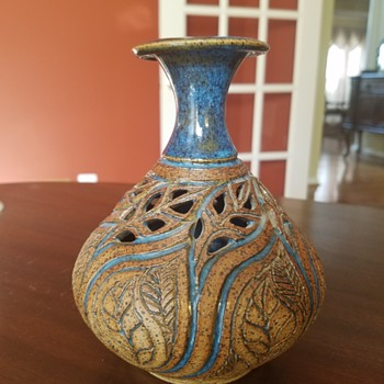 Pottery Vase Hand-thrown by Susan Brown Freeman - Pottery