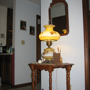 Mirror and hall table