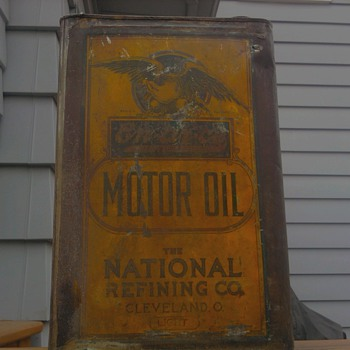 Pre 1921 En-Ar-Co Oil Can - Petroliana