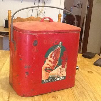 Vintage Coca Cola Pic-Nic Cooler - Coca-Cola
