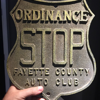Early shield STOP sign - cast aluminum - Signs