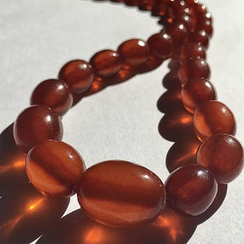 Antique Baltic Amber Bead Necklace  - Fine Jewelry