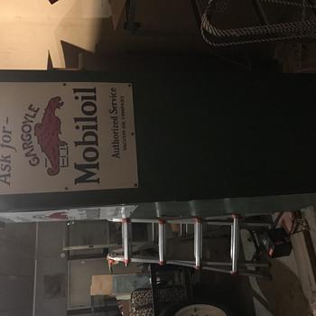 MobilOil Gargoyle Cabinet with Globe - Advertising