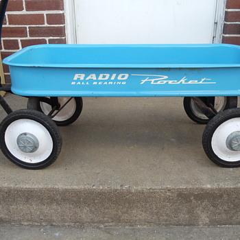 Radio Rocket Ball Bearing Vintage Metal Wagon - Toys