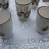 vintage unmarked glazed ceramic pitcher set?