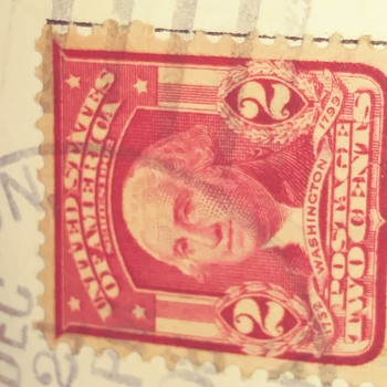 Washington 1732 -1799 red and white stamp. - Stamps