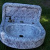 Purple and Cream Graniteware sink