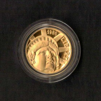 1986 - Statue of Liberty Proof $5 Gold Coin - US Coins