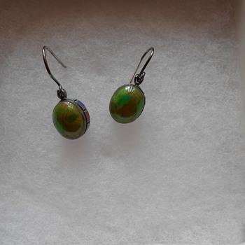 Vintage Sterling 925 multi stone earrings - Silver