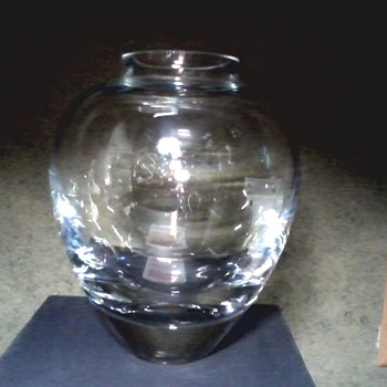 Incredible Krosno Bubble Bottom Vase from Poland / Beautiful ! - Art Glass