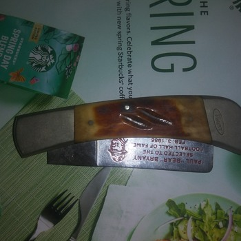 """frost cutlery paul """"bear"""" bryant hall of fame knife - Football"""