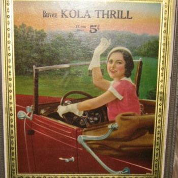buvez kola thrill  12 oz pour 5 ¢ in french  - Signs