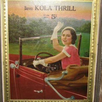 buvez kola thrill  12 oz pour 5 ¢ in french  - Signs