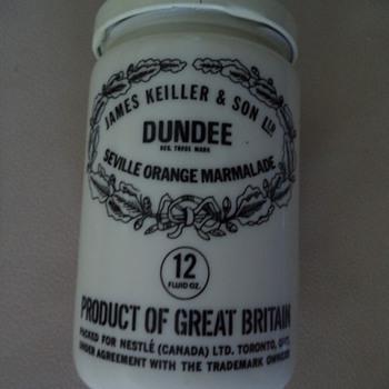 Vintage James Keiller & Son Ltd. Dundee Seville Orange Marmalade Jar - Bottles