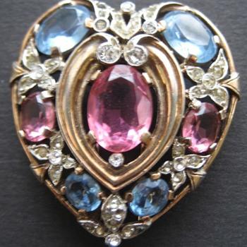 Trifari Heart Fur Clip Happy Valentines Day - Costume Jewelry