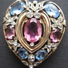 Trifari Heart Fur Clip Happy Valentines Day