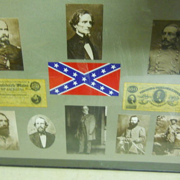 Collage of Confederate Heroes - Military and Wartime