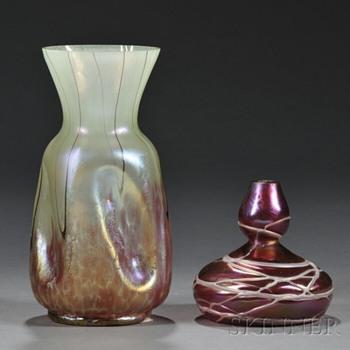 TWO PALLME-KONIG VASES - Art Glass