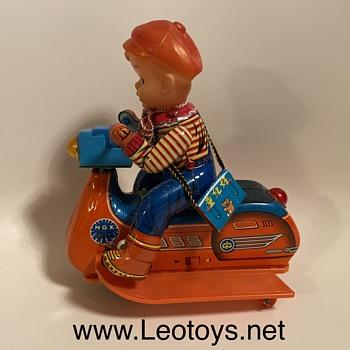 masudaya tin NGK & Piaggio Scooter  - Toys