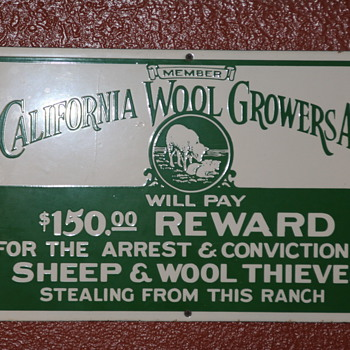 California Woolgrowers Sign - Signs