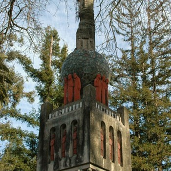 Outsider Art Tower - made by a German refugee nun in the 1930s - Folk Art