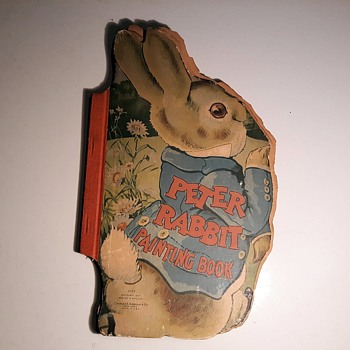 Antique Peter Rabbit Painting Book (Coloring Book) Copyright 1913 - Books
