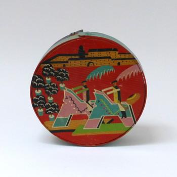 Painted wood box - Art Deco