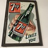 7up tin painted  early sign
