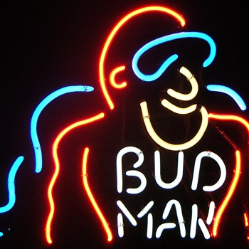 Bud Man Neon Sign - Breweriana