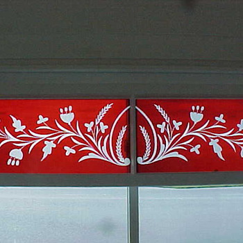 Cut-to-clear Engraved Glass Panel