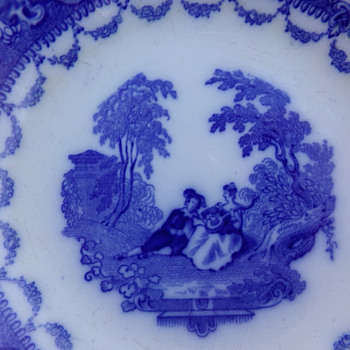1890s Scenic Bowl - China and Dinnerware