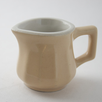 Hall Individual Creamer….Beige Fluted Sides…. - Kitchen