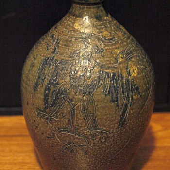 Ovoid Jug - Signed and decorated - Pottery