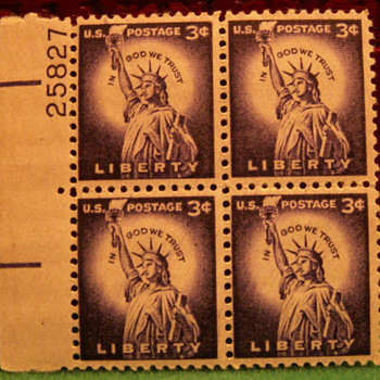 1959 In God We Trust Liberty 3¢ Stamps