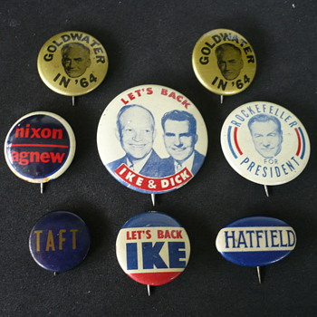 Political Buttons - Medals Pins and Badges