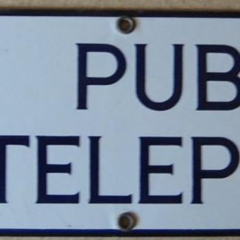 Michigan associated sign - Telephones