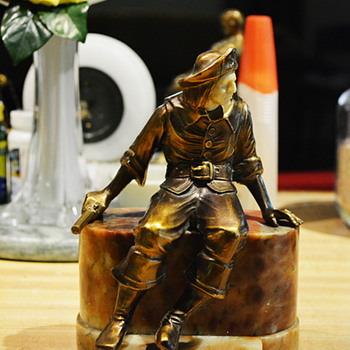 2nd, 1925 J B Hirsch Pirate Bookend with Oval Base - Books
