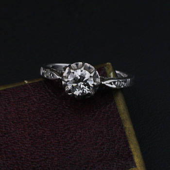 1920's white gold and diamond ring